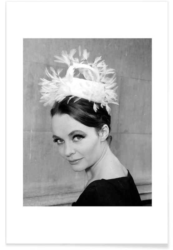 Tania eyde in cocktail hat, 1962 -Poster