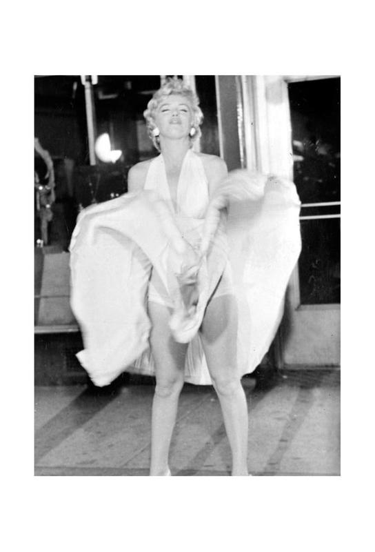 Marilyn Monroe, 1954 Seven Year Itch alu dibond
