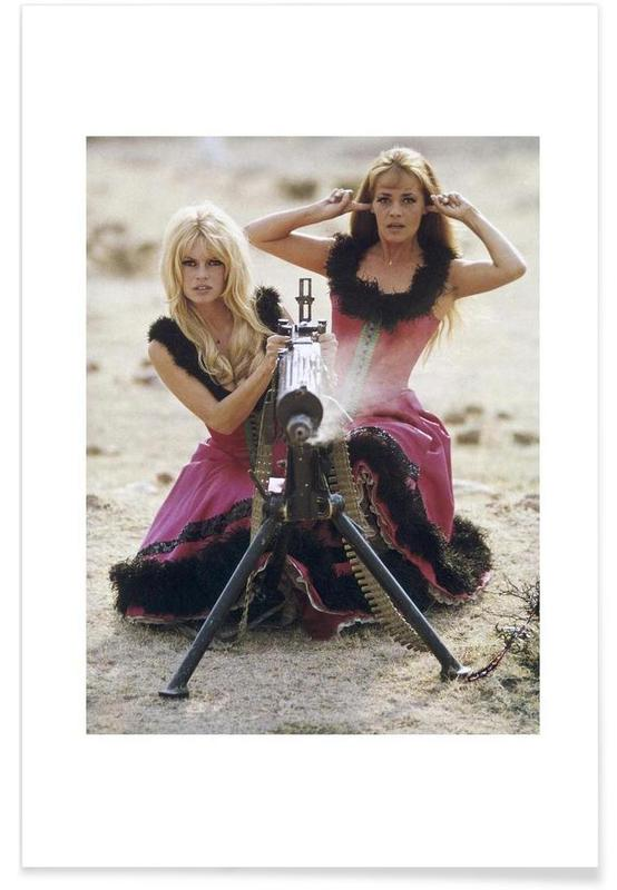 Brigitte Bardot and Jeanne Moreau, 1965 poster