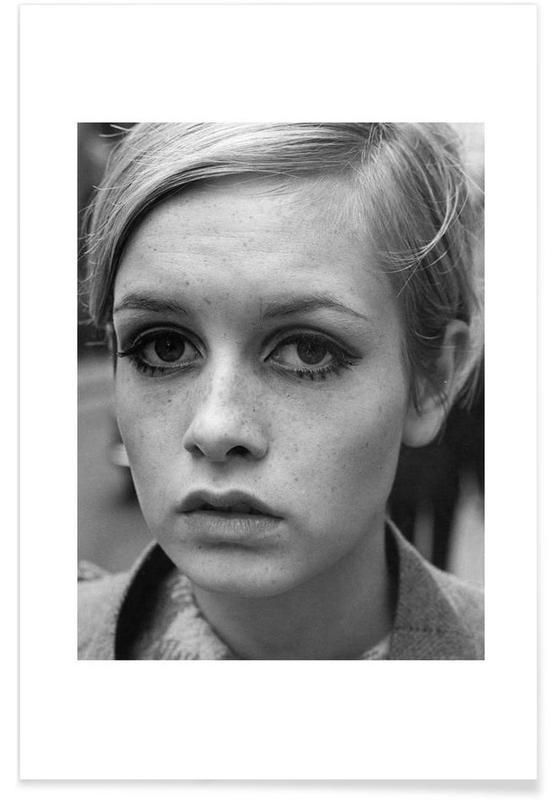 Vintage foto van Twiggy, 1966 poster