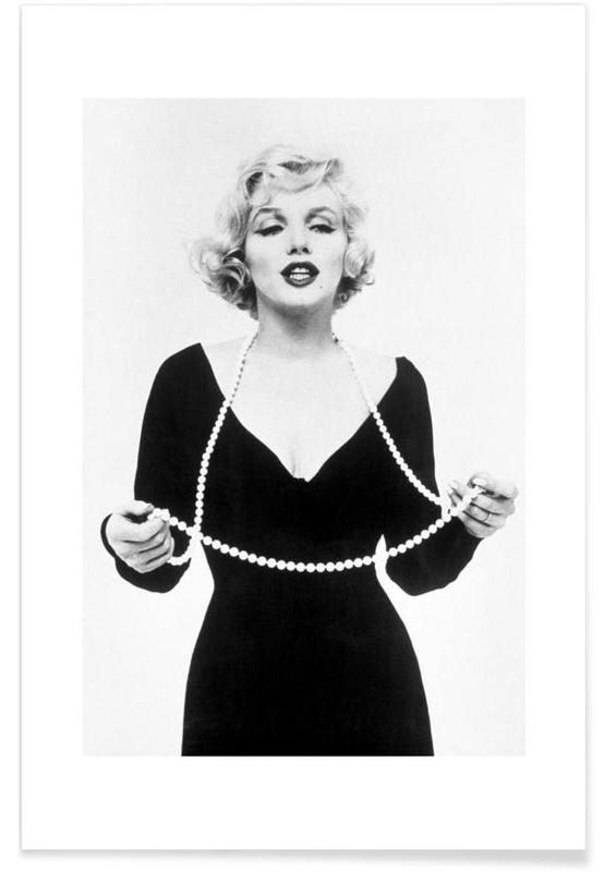 Marilyn monroe vintage photography archive poster