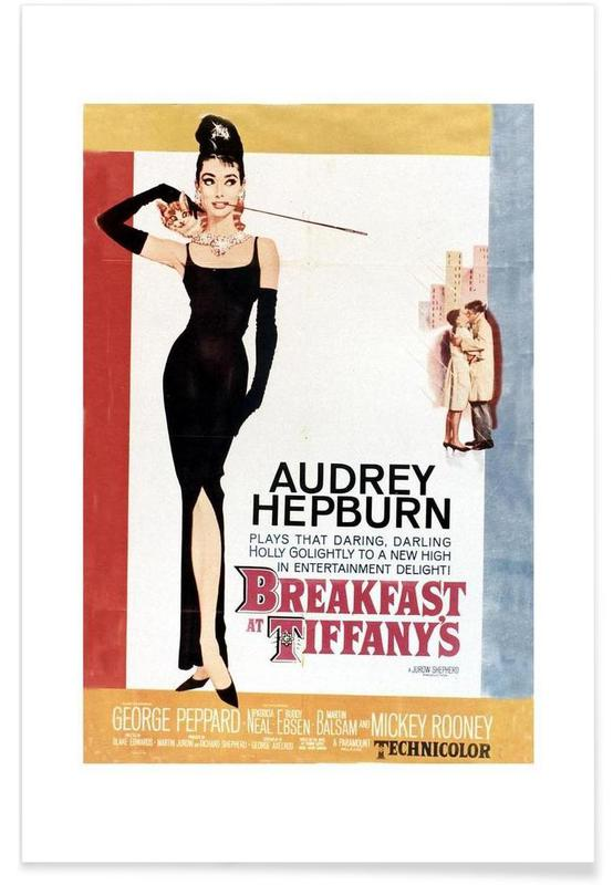 Audrey hepburn breakfast at tiffany s 1961 vintage photography archive poster