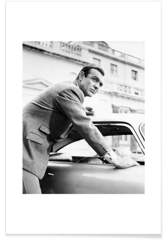Sean Connery as James Bond in Goldfinger, 1964 -Poster