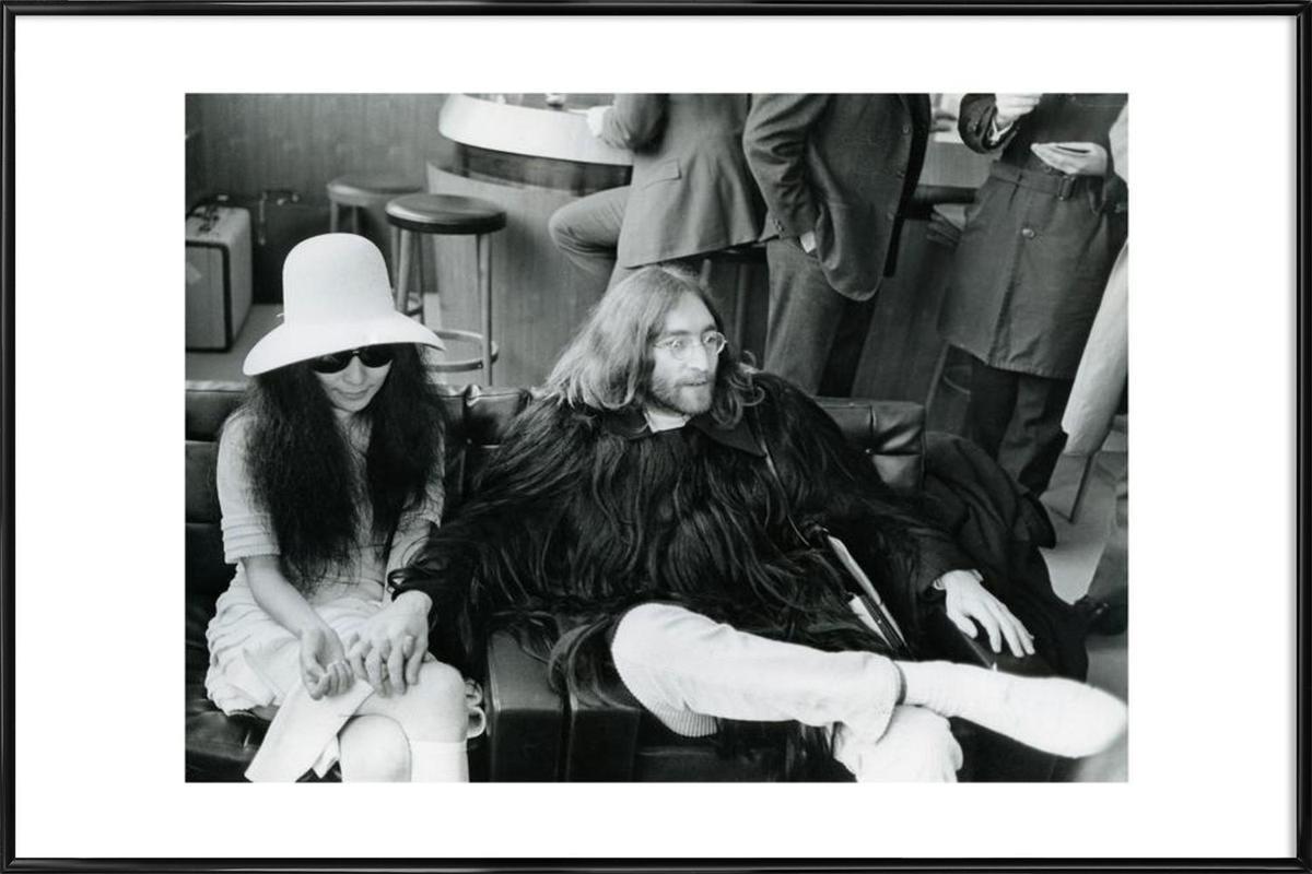John Lennon and Yoko Ono Framed Poster