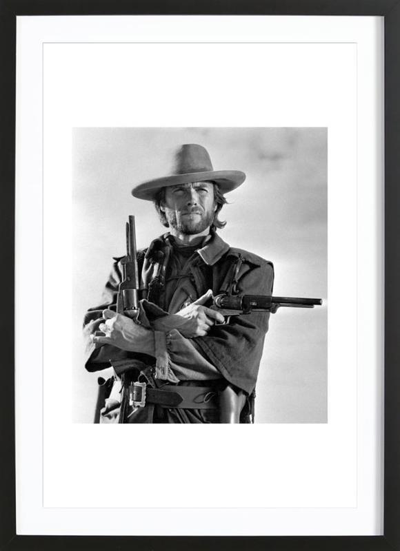 Clint Eastwood in The Outlaw Josey Wales, 1975 -Bild mit Holzrahmen