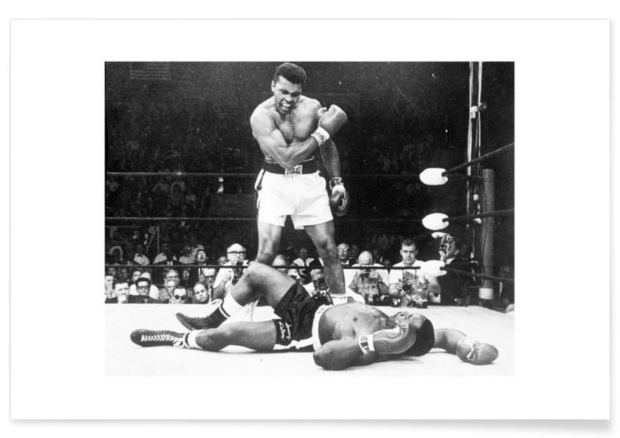 Muhammad Ali Rematch with Sonny Liston, 1965 Photograph Poster