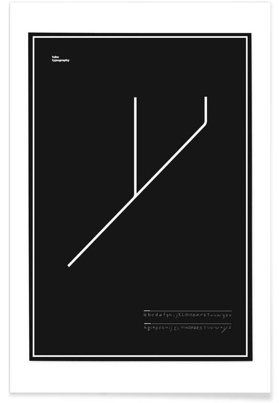 Tube Font poster