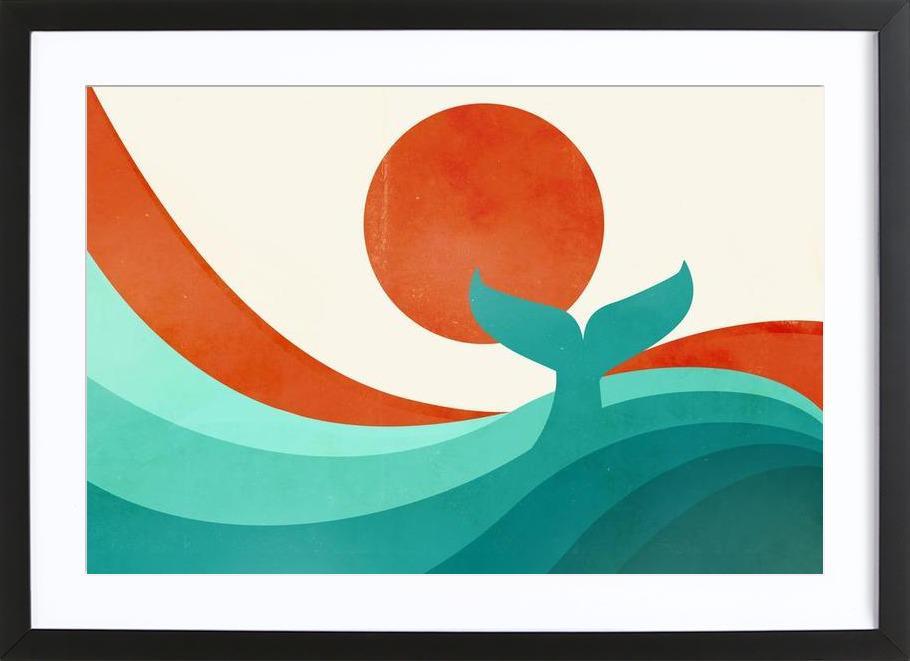Wave Day Framed Print
