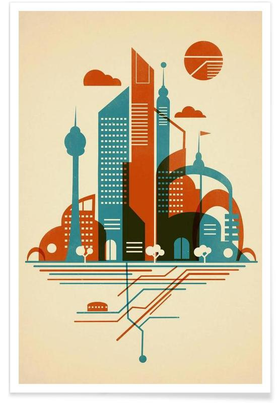 Subway Sky Poster