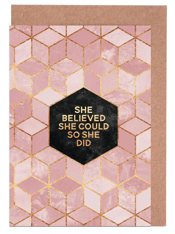 She Believed She Could Greeting Card Set