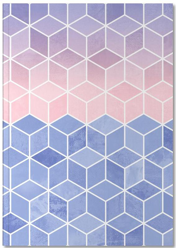 Rose Quartz and Serenity Cubes Notebook