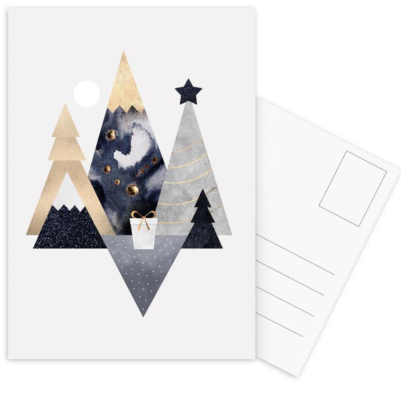 Christmas Mountains -Postkartenset