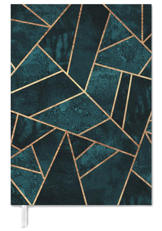 Deep Teal Stone Personal Planner