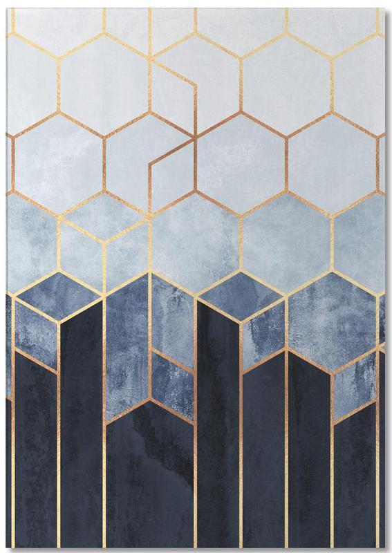 Soft Blue Hexagon -Notizblock