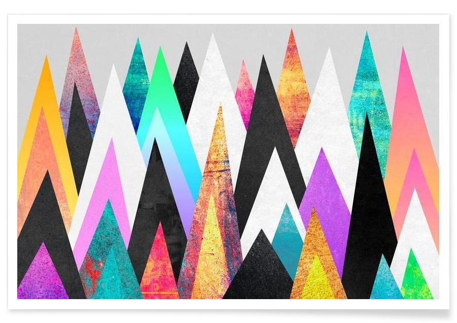 Colorful Peaks -Poster