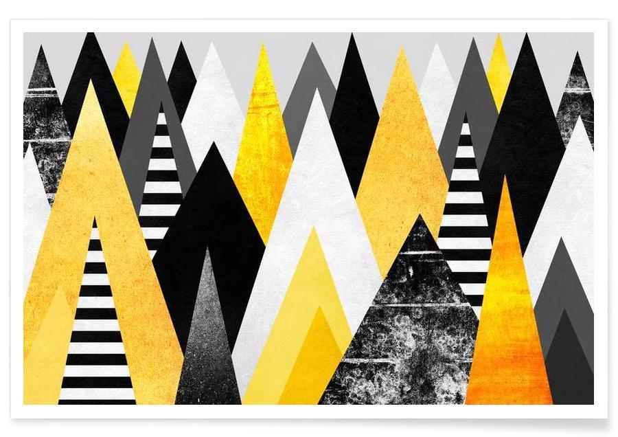 Yellow Peaks Poster