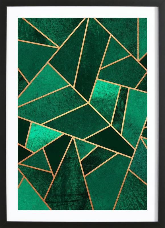 Emerald and Copper Framed Print
