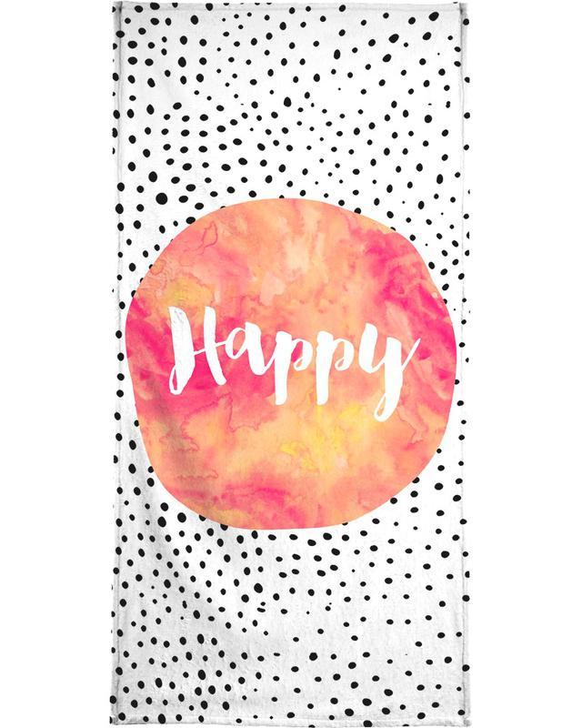 Happy -Handtuch