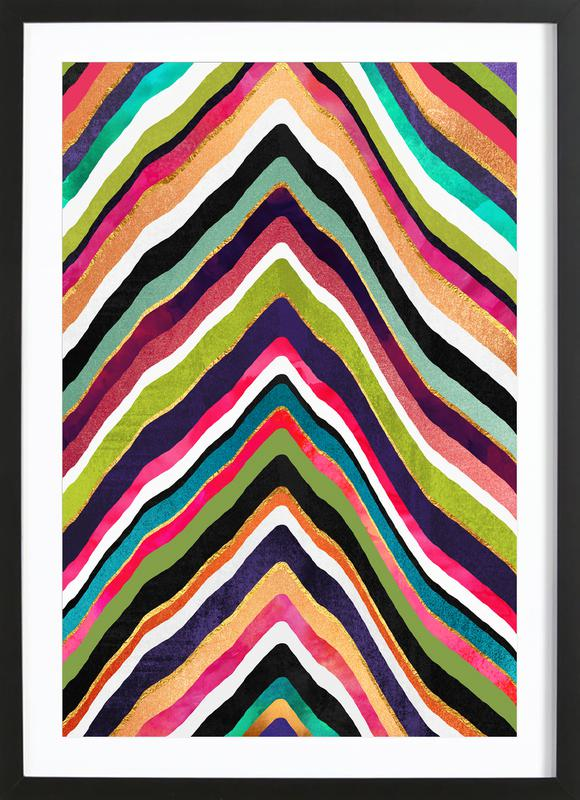Color Slice Framed Print