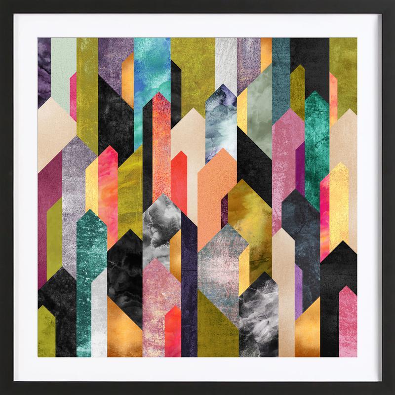 Crystalized Framed Print