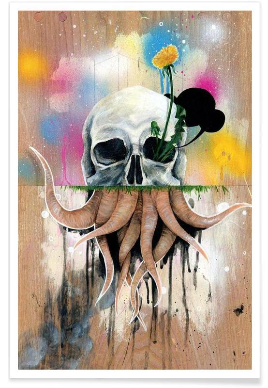Skull Roots Poster