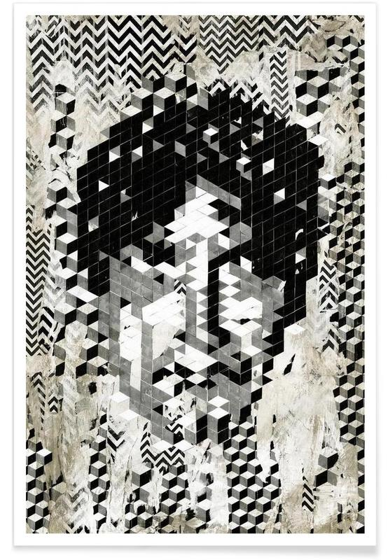 Cube Head Poster