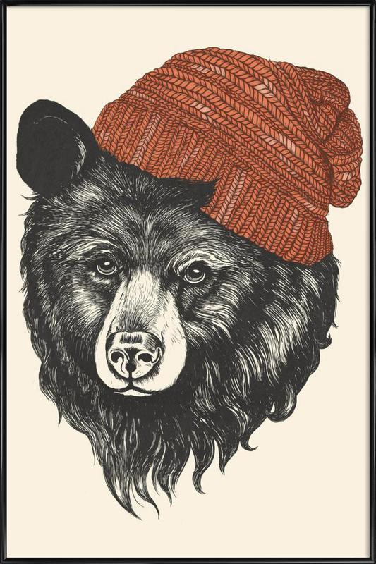 Zissou the Bear -Bild mit Kunststoffrahmen