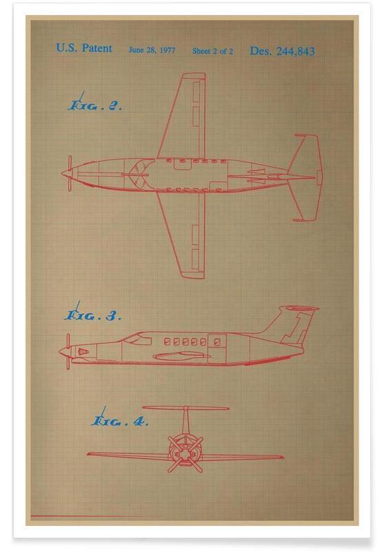 Airplane III Premium Poster
