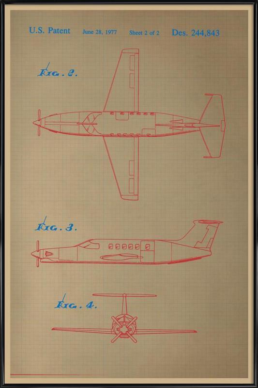 Airplane III Gerahmtes Poster