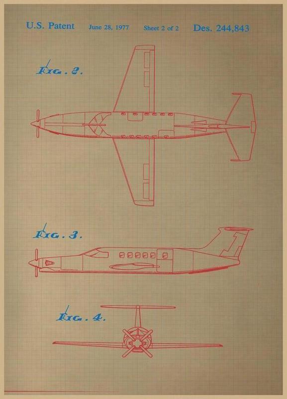 Airplane III Leinwandbild
