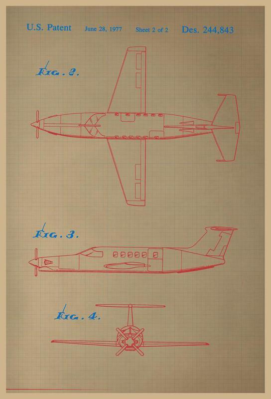 Airplane III Alu Dibond Druck