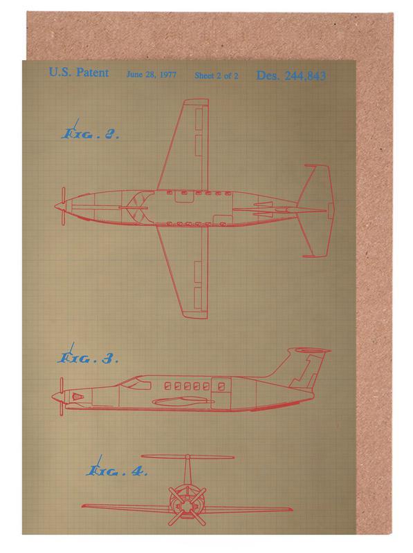 Airplane III Grußkartenset