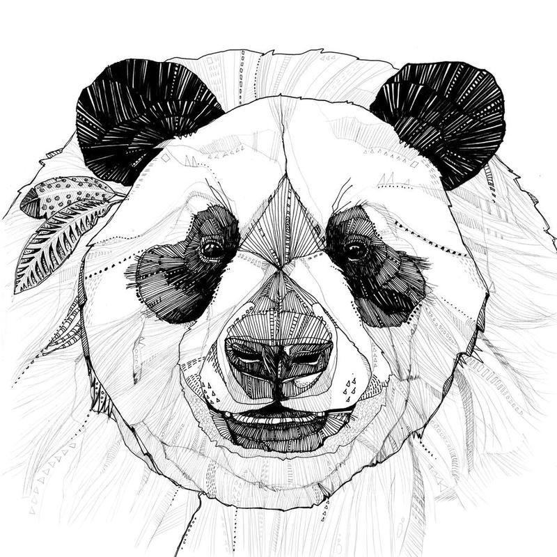 panda Acrylglasbild | Dekoration > Bilder und Rahmen > Bilder | Mehrfarbig | Aluminium
