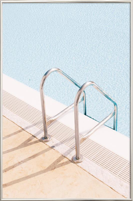 Poolside Poster in Aluminium Frame