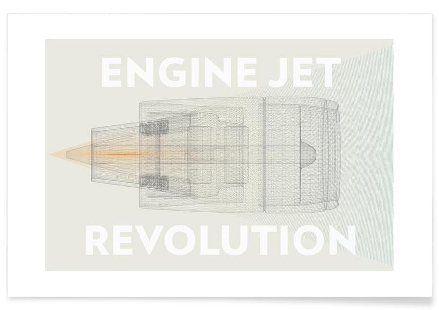 Engine jet revolution Poster