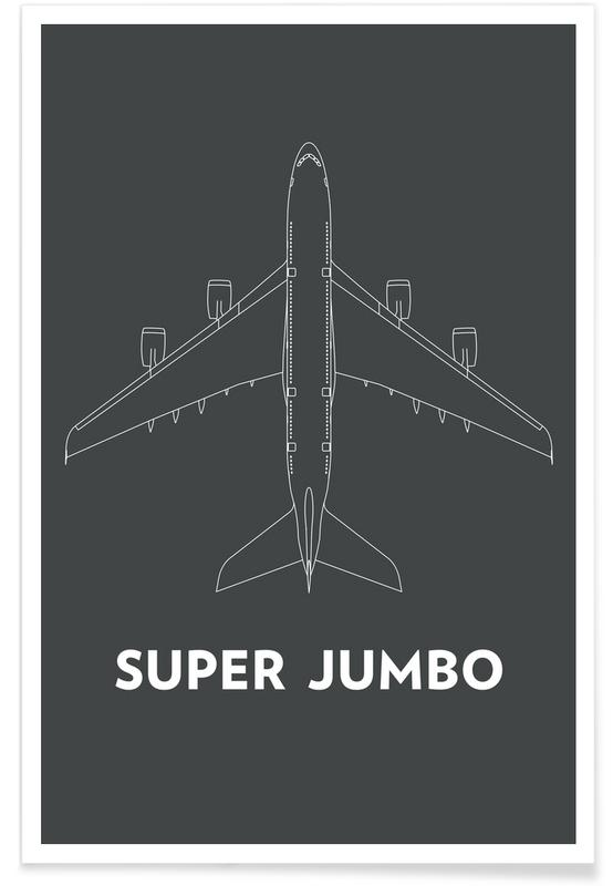 Super Jumbo Airbus A380 poster