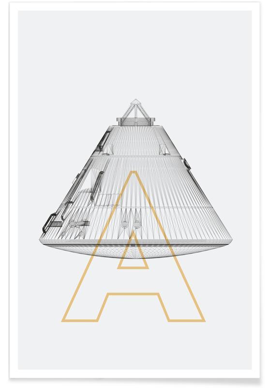 Apollo 11-Raumschiff -Poster