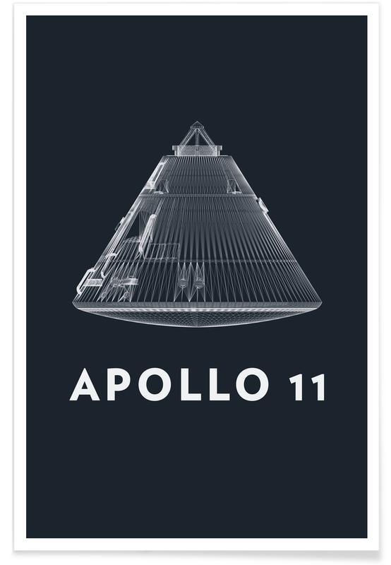 Apollo Midnight-Rakete -Poster