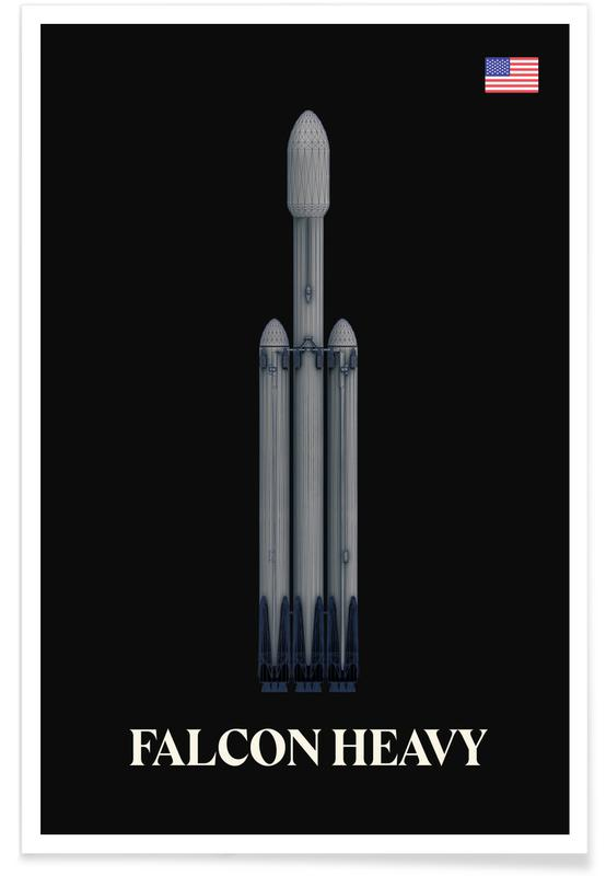 Falcon Heavy Spaceship Poster
