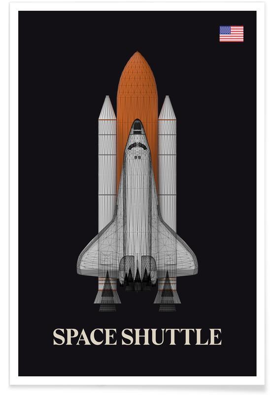 NASA Space Shuttle-Rakete -Poster
