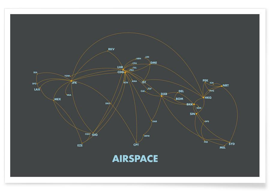 Airspace Map Dark poster