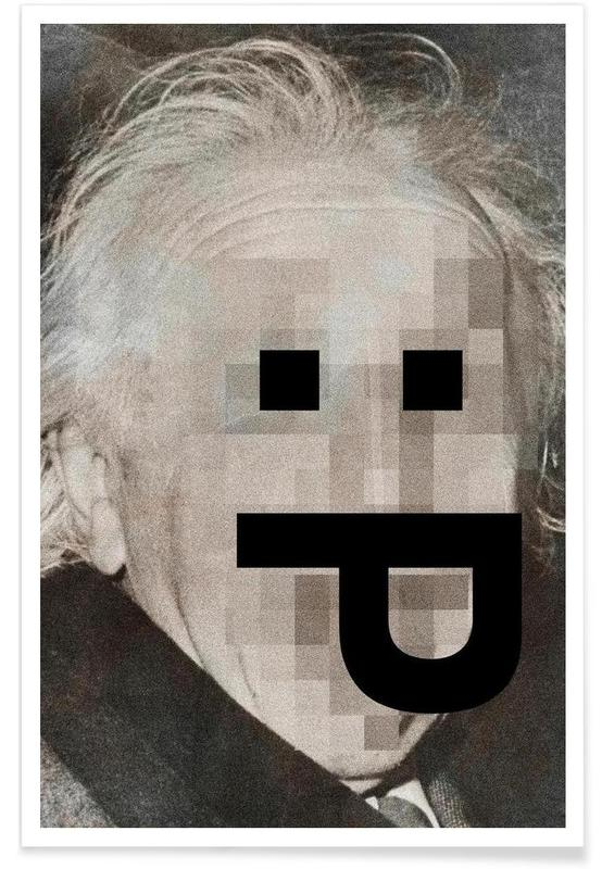 Retro Pop Emoticons Albert Poster
