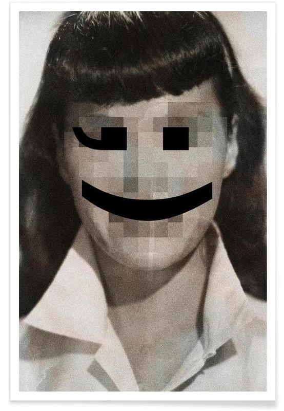 Retro Pop Emoticons Betty affiche
