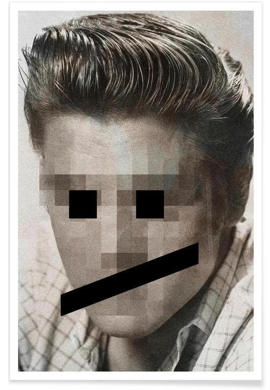 Retro Pop Emoticons Elvis -Poster