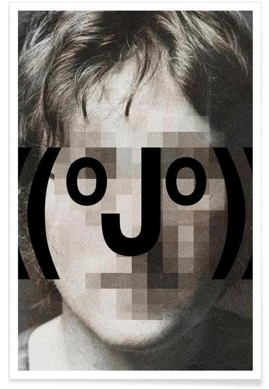 Retro Pop Emoticons John Poster