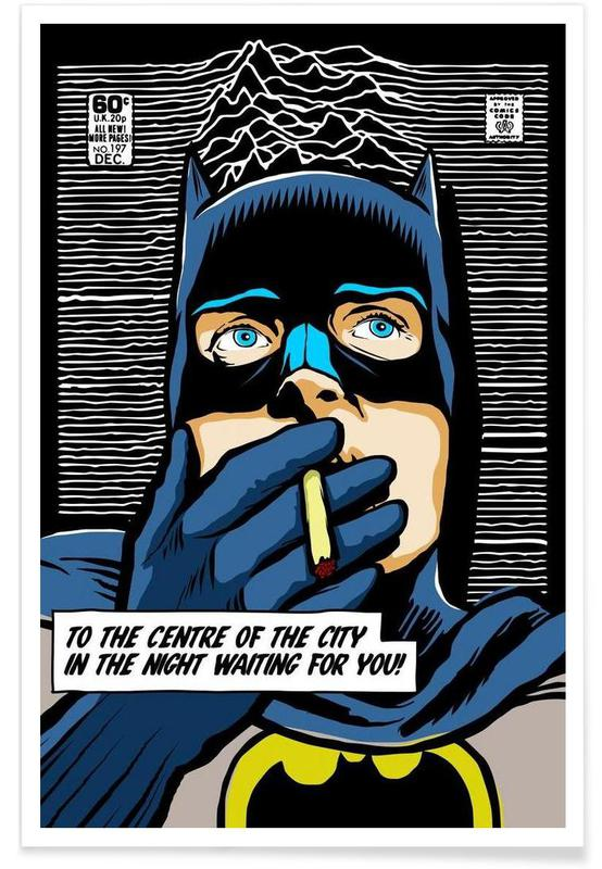 Post-Punk Comix- Bat Curtis affiche