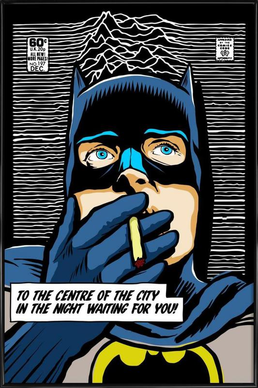 Post-Punk Comix- Bat Curtis ingelijste poster