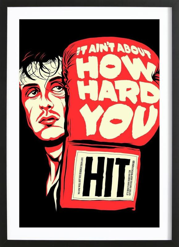 How Hard You Hit ingelijste print
