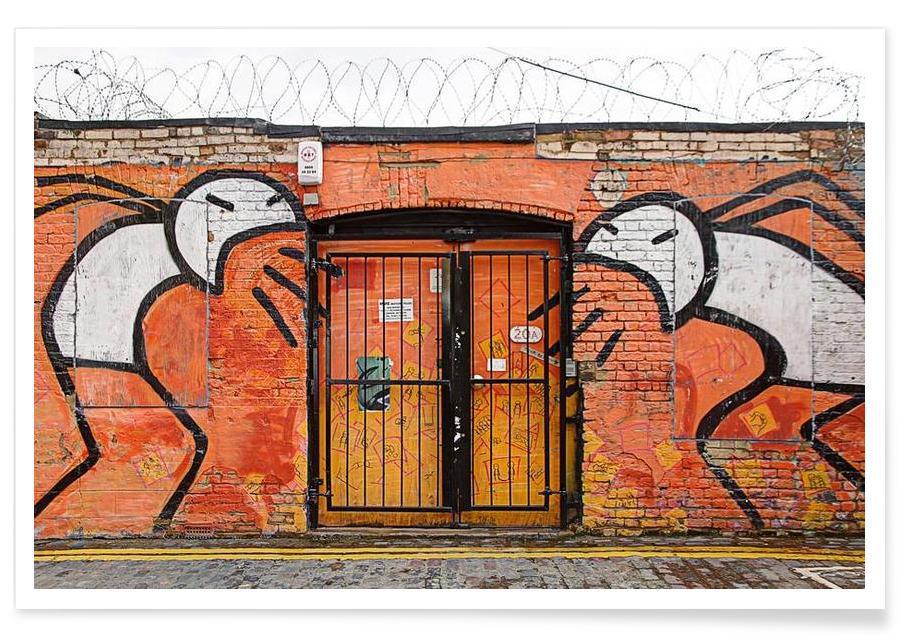Streetart Orange -Poster