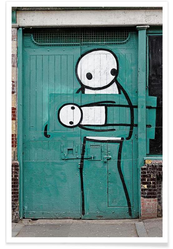 Streetart Grün 2  Poster